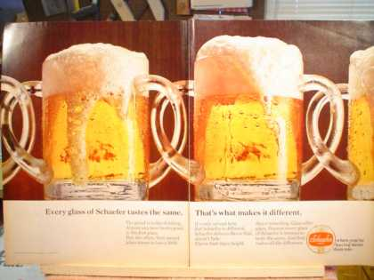 2pg Schaefer Beer Mugs Every glass… (1968)