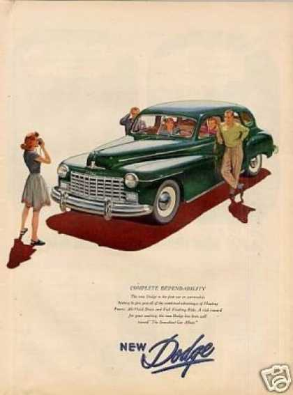 "Dodge Car Ad ""Complete Dependability.. (1946)"