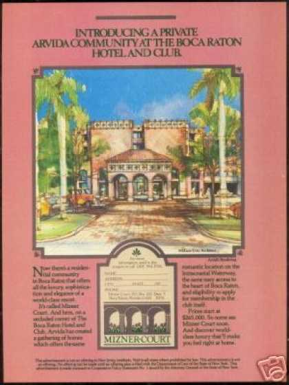 Boca Raton Mizner Court Homes Arvida (1985)