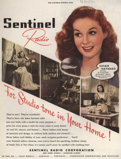 Sentinel Radio Corporation's Various – Sentinel Radio For Studio tone in Your Home (1946)