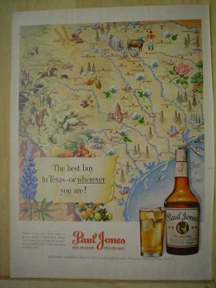 Paul Jones Whiskey The best buy in Texas or anywhere (1950)