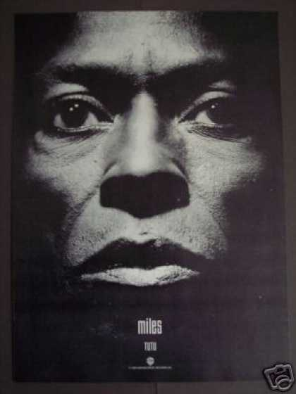Miles Davis Record Album Tutu Photo Promo (1986)