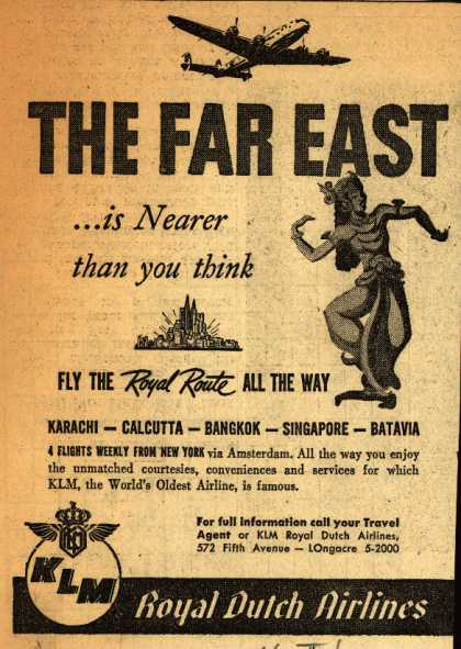 KLM Royal Dutch Airline's The Far East – The Far East... is nearer than you think (1947)