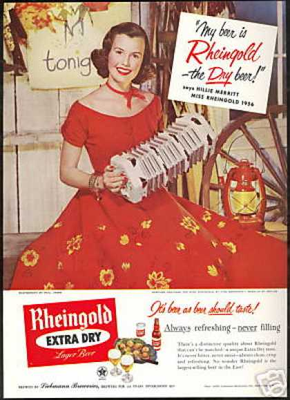 Miss Rheingold Beer Barn Dance Hillie Merritt (1956)