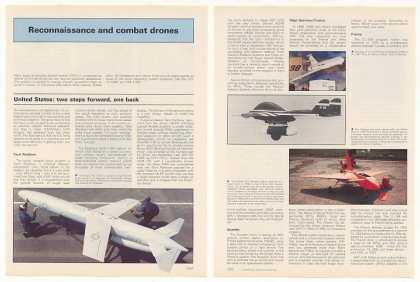 Reconnaissance Combat Drones RPVs 7P Photo Article (1987)