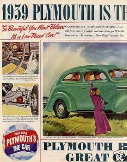 "Plymouth ""Roadking"" 2-door Touring Sedan Ad 2 Page (1939)"