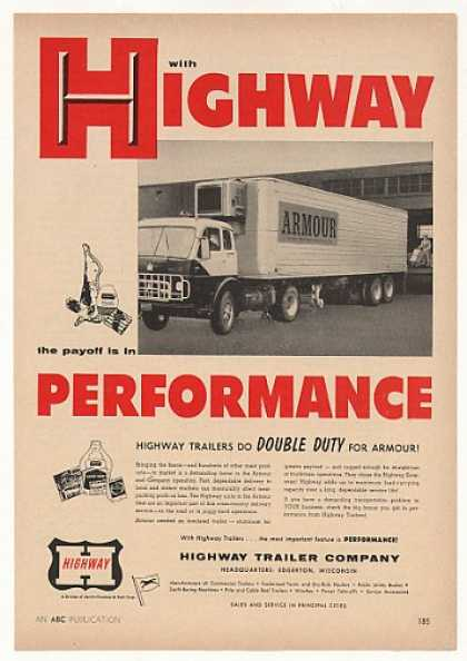 Armour Meats Highway Truck Trailer (1957)