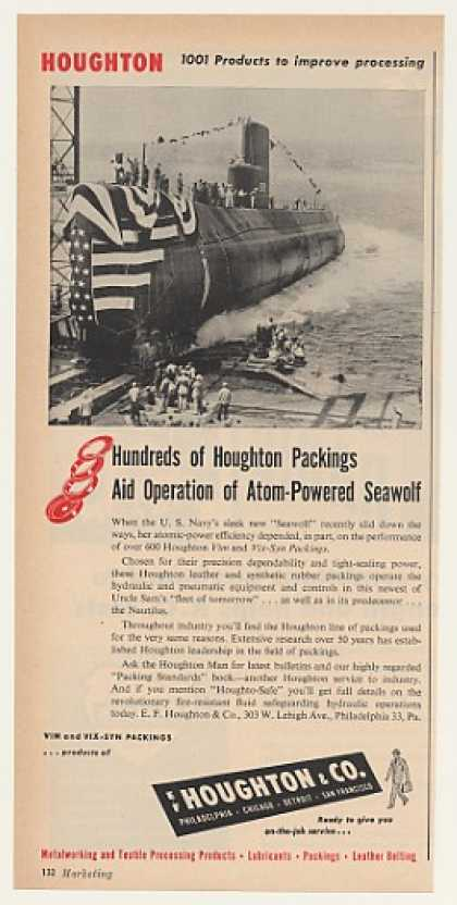 US Navy Seawolf Atomic Sub Houghton Packings (1955)