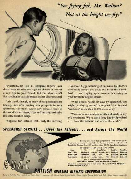 "British Overseas Airways Corporation – ""For Flying Fish, Mr. Walton? Not at The Height We Fly!"" (1948)"