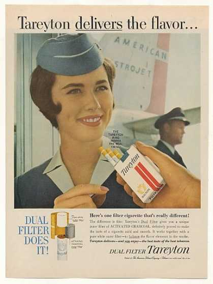 American Airlines Stewardess Tareyton Cigarette (1961)