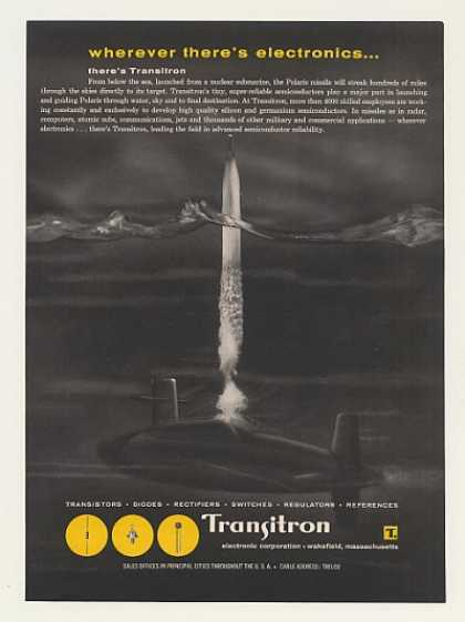 Polaris Missile Nuclear Sub Launch Transitron (1960)