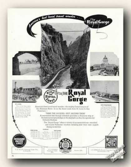 Ride the Royal Gorge Antique Travel Photos (1947)