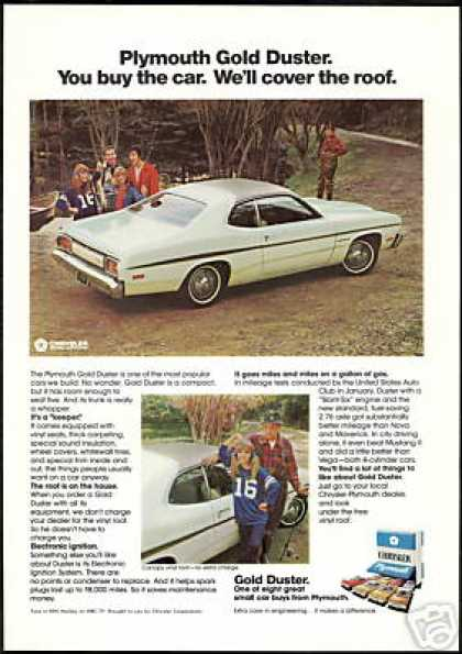 Plymouth Gold Duster 2 Photo Vintage (1974)