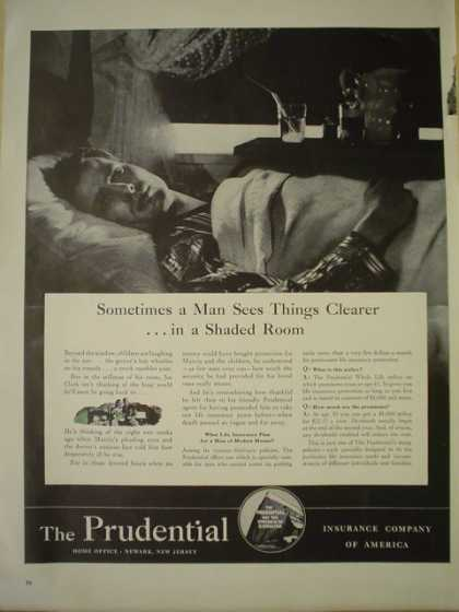 Prudential Insurance Company. See clearer in a shaded room (1941)