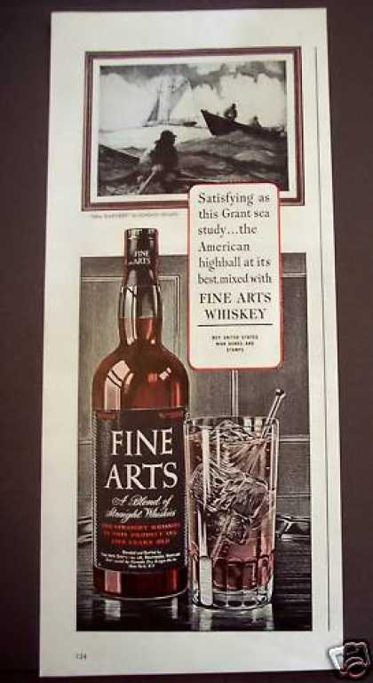 Fine Arts Whiskey Gordon Grant Art (1944)