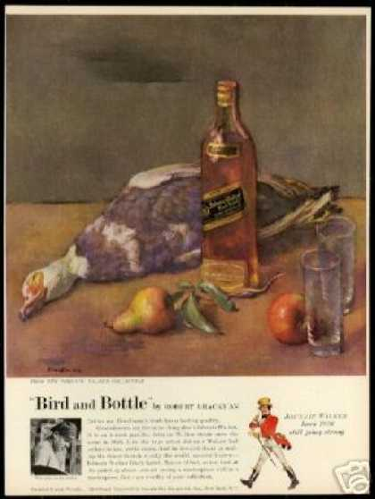 Brackman Art Bird Bottle Johnnie Walker Scotch (1954)