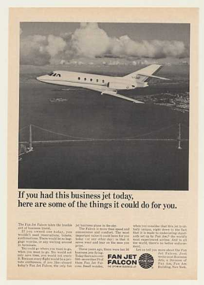 Pan Am Fan Jet Falcon Business Aircraft Photo (1967)
