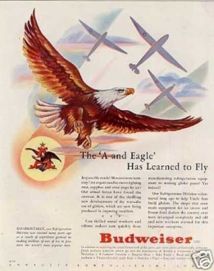 Budweiser Beer Ad Eagle (1943)
