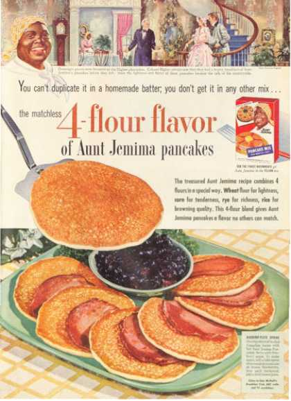 Aunt Jemima Blueberry Plate Special Pancakes (1954)