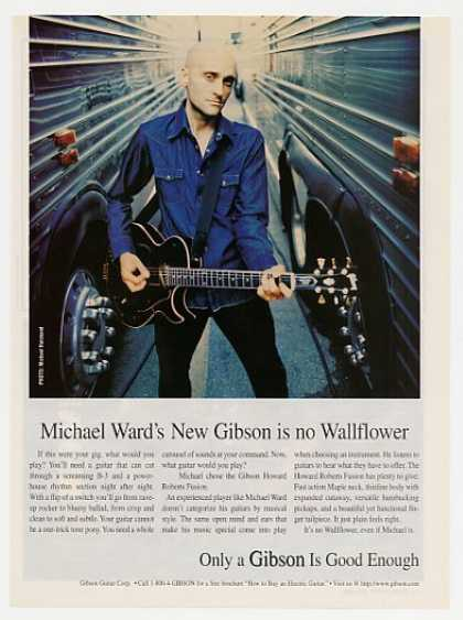 Wallflowers Michael Ward Gibson Guitar Photo (1998)