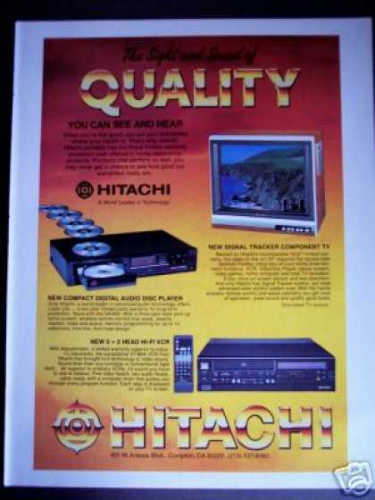 Hitachi Cd Player Tv & Vcr Technology (1985)