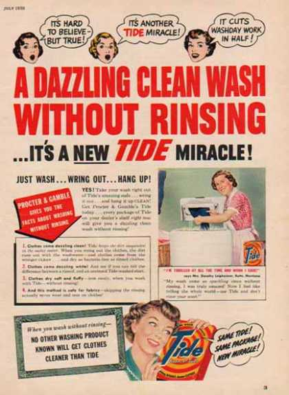 Tide Soap – Oceans of Suds (1950)