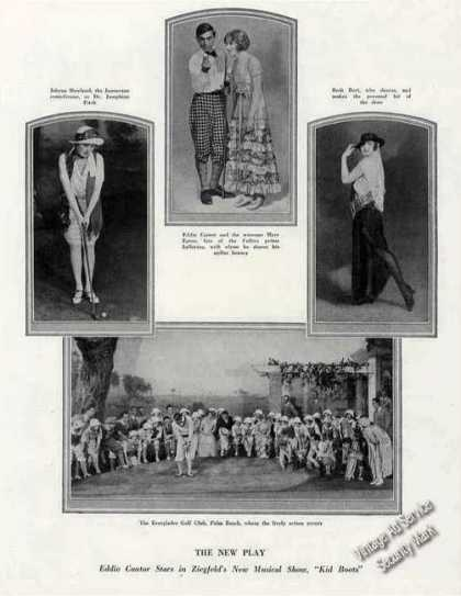 """Kid Boots"" Cast Photos Antique Print Feature (1924)"