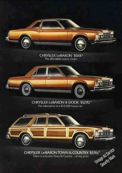 "Chrysler Lebaron (3) ""The New Size"" Car (1978)"