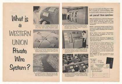 Western Union Telegraph Private Wire System 2-P (1954)