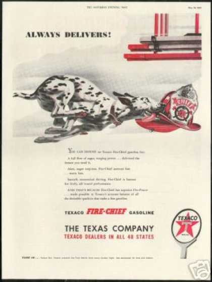 Dalmatian Dog Fire Chief Hat Texaco (1947)