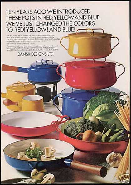 Dansk Red Yellow Blue Pots Photo (1968)