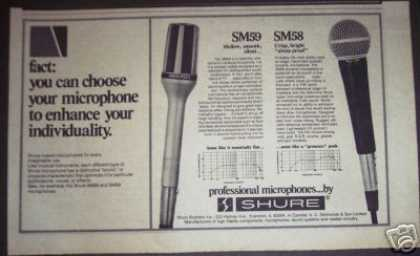 Shure Microphone Sm59 Sm58 (1979)
