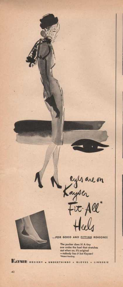 Eyes Are On Kayser Fit All Heels Hosiery A (1946)