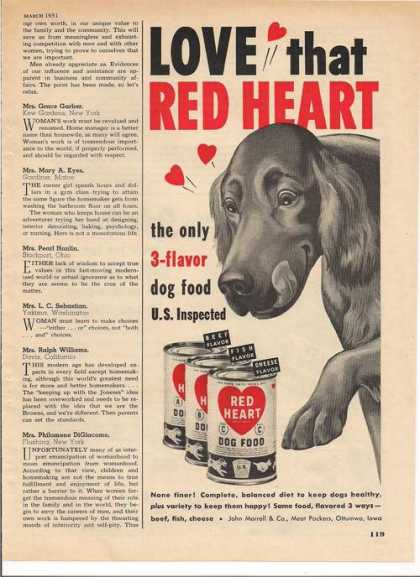 Red Heart Dog Food (1951)