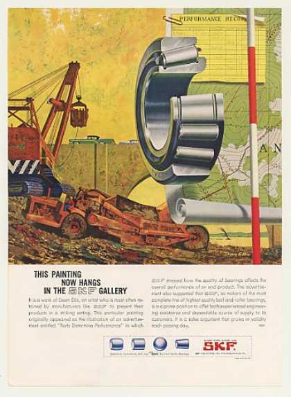 SKF Roller Bearings Construction Dean Ellis art (1959)
