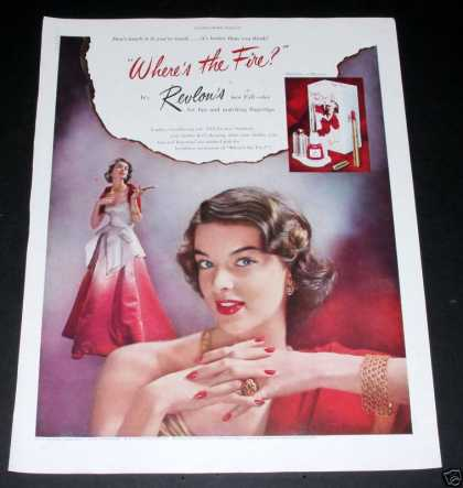 "Revlon ""Where's the Fire"" Makeup (1950)"