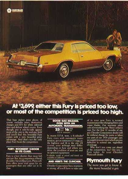 Chrysler Car – Plymouth Fury / Gold (1976)