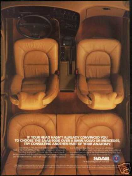 Saab 9000 Car Interior Photo Print Car (1987)