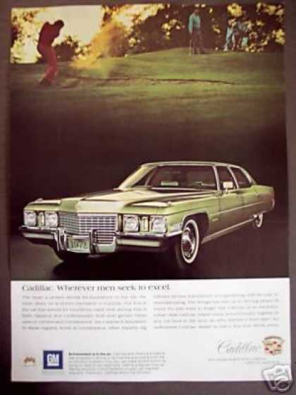 Cadillac Classic Car Golf Theme Photo (1972)