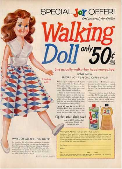 Joy Walking Doll Childern Toy Ad T (1956)