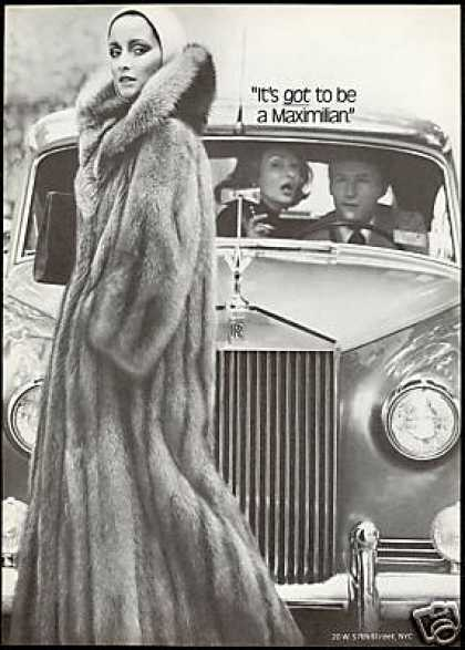 Maximilian Fur Coat Photo Rolls Royce NYC (1976)