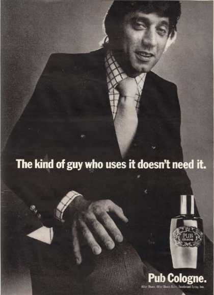 Joe Namath – Pub Cologne (1971)