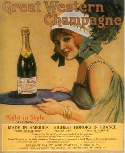 Great Western Champagne, Alcohol, USA (1920)