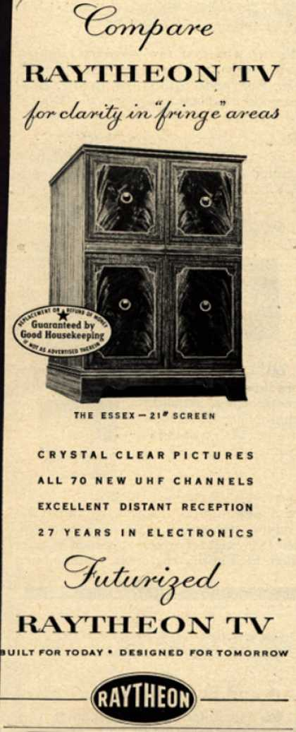 "Raytheon Manufacturing Company's Television – Compare Raytheon TV for clarity in ""fringe"" areas (1953)"