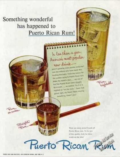 "Puerto Rican Rum ""Something Wonderful Happened"" (1950)"