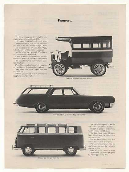 VW Volkswagen Station Wagon Progress Since 1920 (1965)
