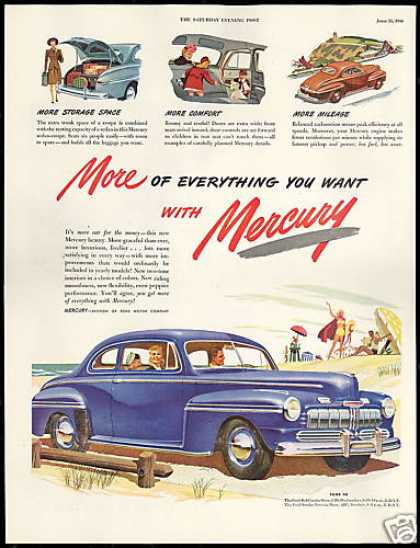 Mercury 2 Door Car More Of Everything Vintage (1946)