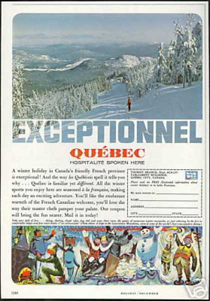 Canada Quebec Laurentian Mt Photo Travel (1964)