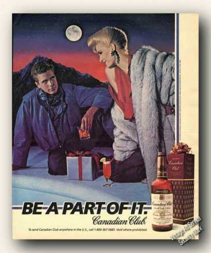 Canadian Club Be a Part of It Print Promo Art (1984)