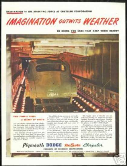 Chrysler Enamel Car Paint Tunnel Vintage Photo (1946)